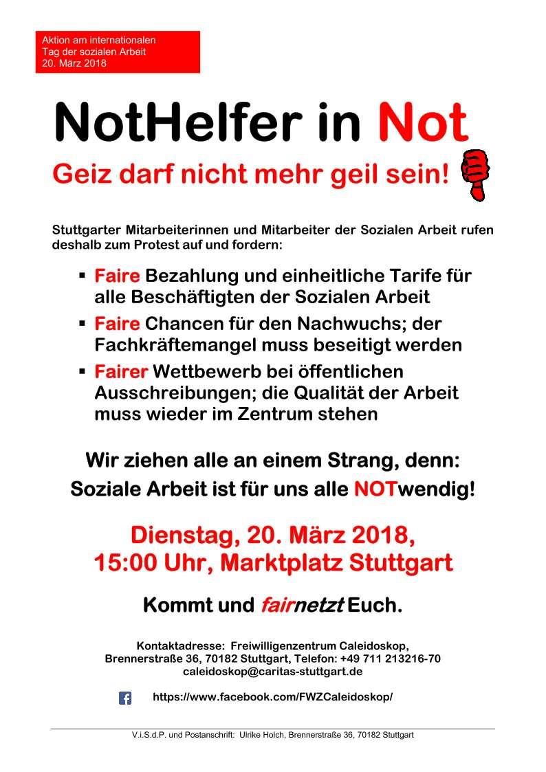Nothelfer in Not Flyer