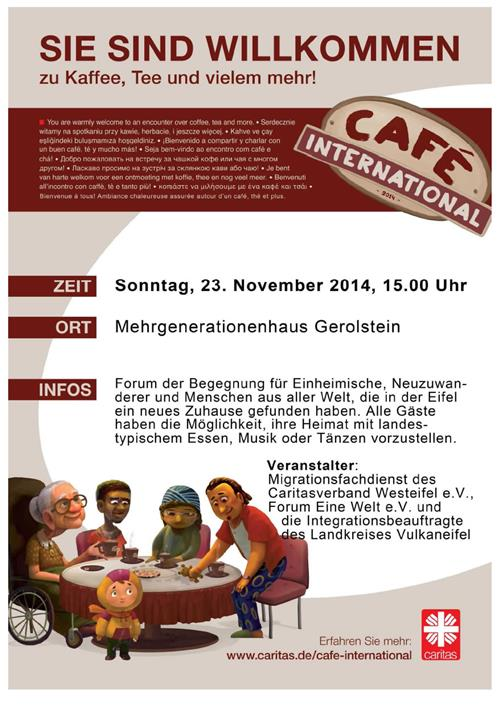 cafe international 2014 - caritas-westeifel.de, Einladung