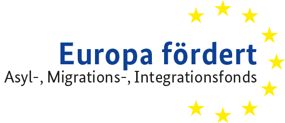 Logo 'EU fördert': Asyl-, Migrations- und Integrationsfonds (AMIF)