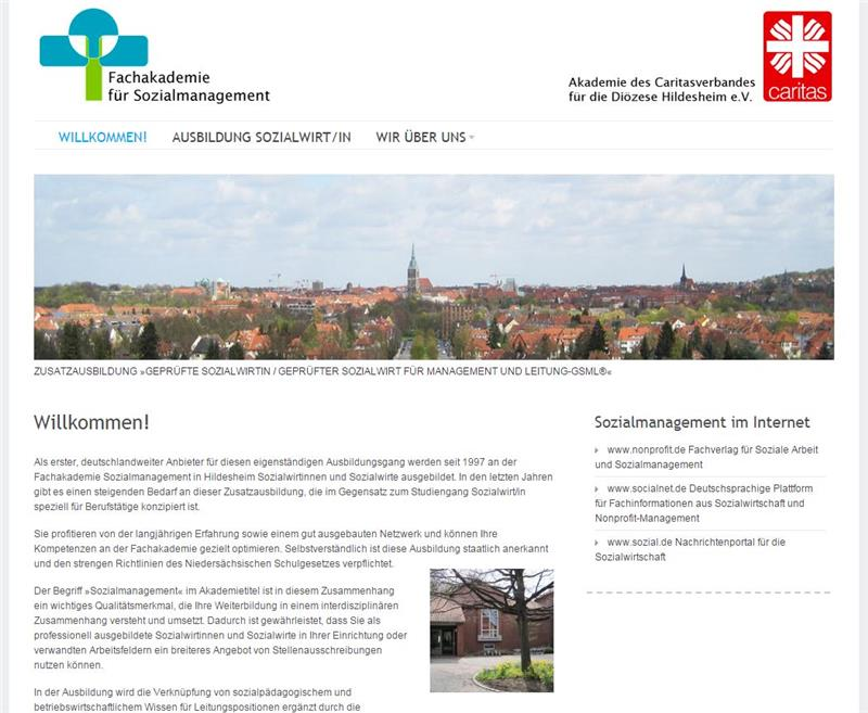 Website Fachakademie Sozialmanagement