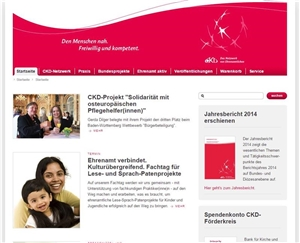 Screenshot - Website CKD Bundesverband