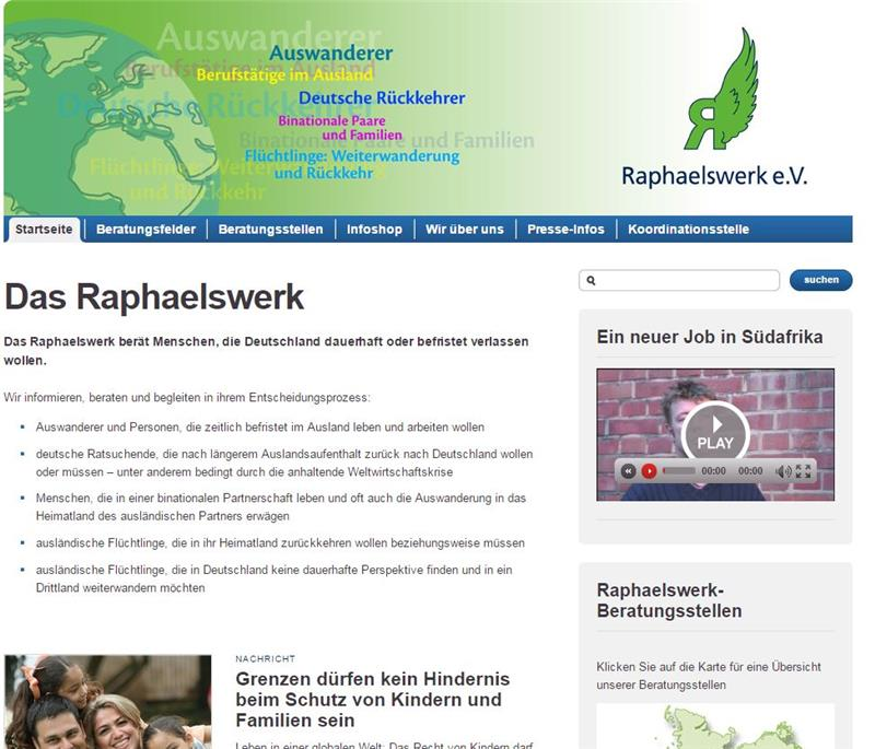 Website Raphaelswerk
