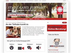 Website Deutscher Caritasverband
