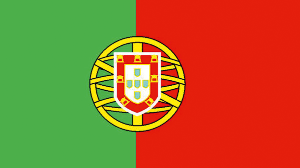 Die Nationalflagge Portugals