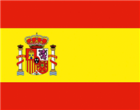 Die Nationalflagge Spaniens