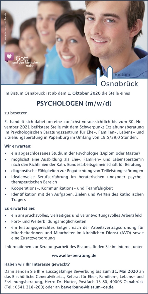 2020-05-04 Bistum OS - Psychologe Papenburg 2020