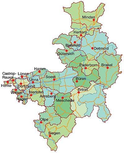 Karte Paderborn.Caritas Vor Ort