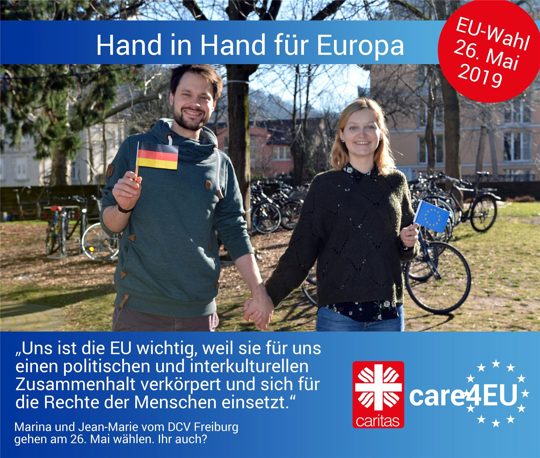 care4EU Fotoaktion-Beispiel mit Statement