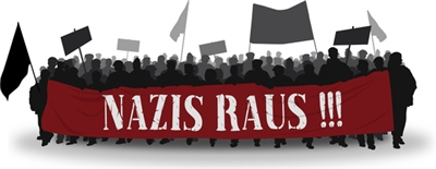 Demonstration gegen Nazis