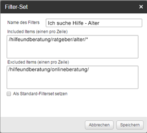 Filter Webstatstik
