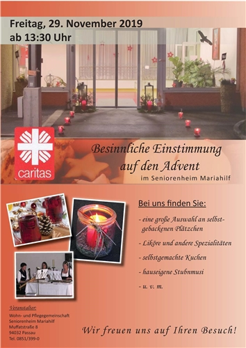 Flyer zum Adventsbasar