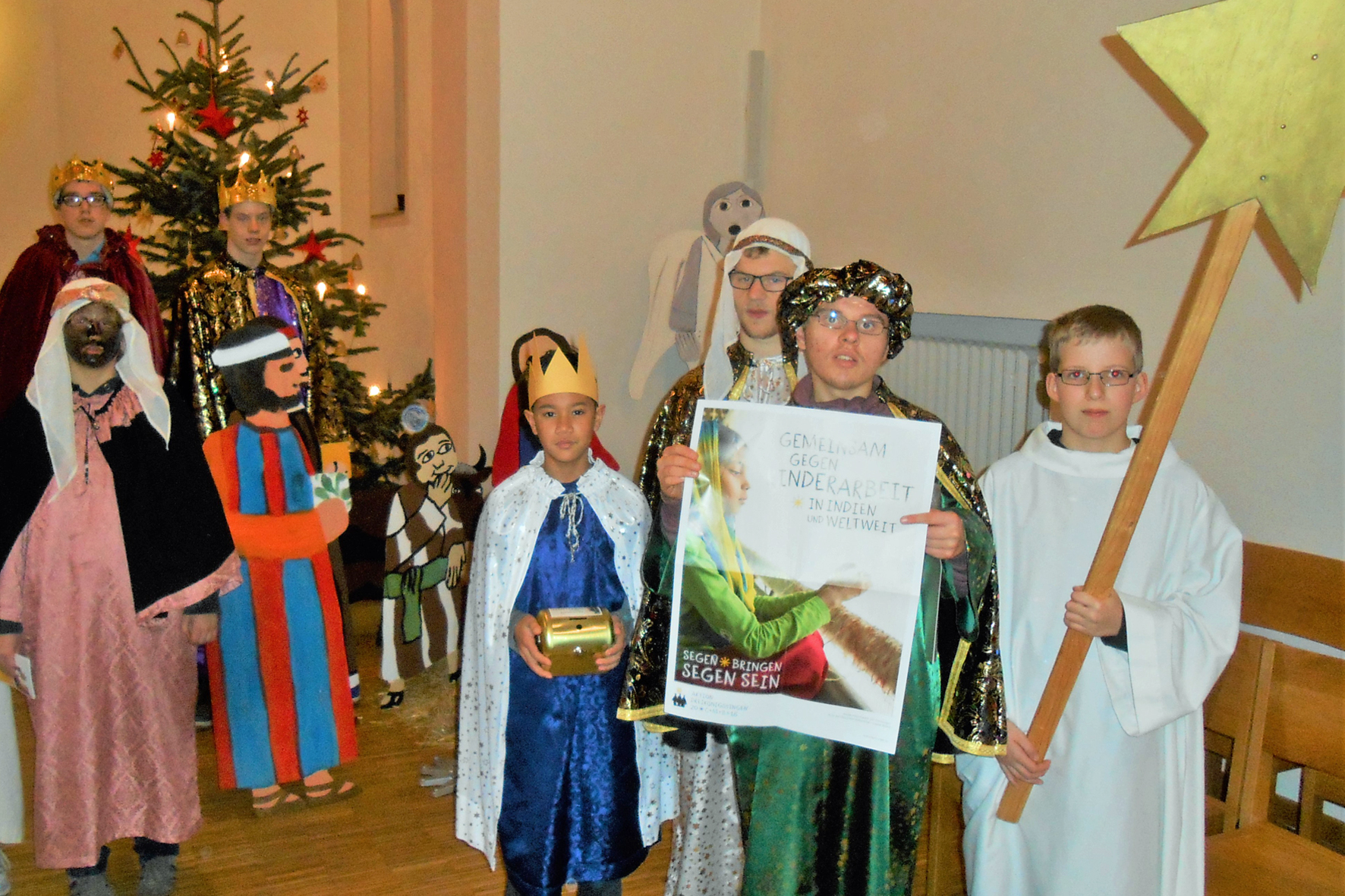 Die Sternsinger in Aktion