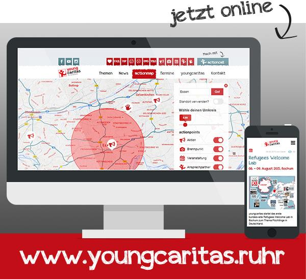 Website youngcaritas.ruhr