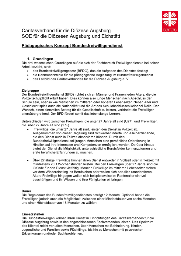 Bewerbung Bundesfreiwilligendienst Anschreiben 5