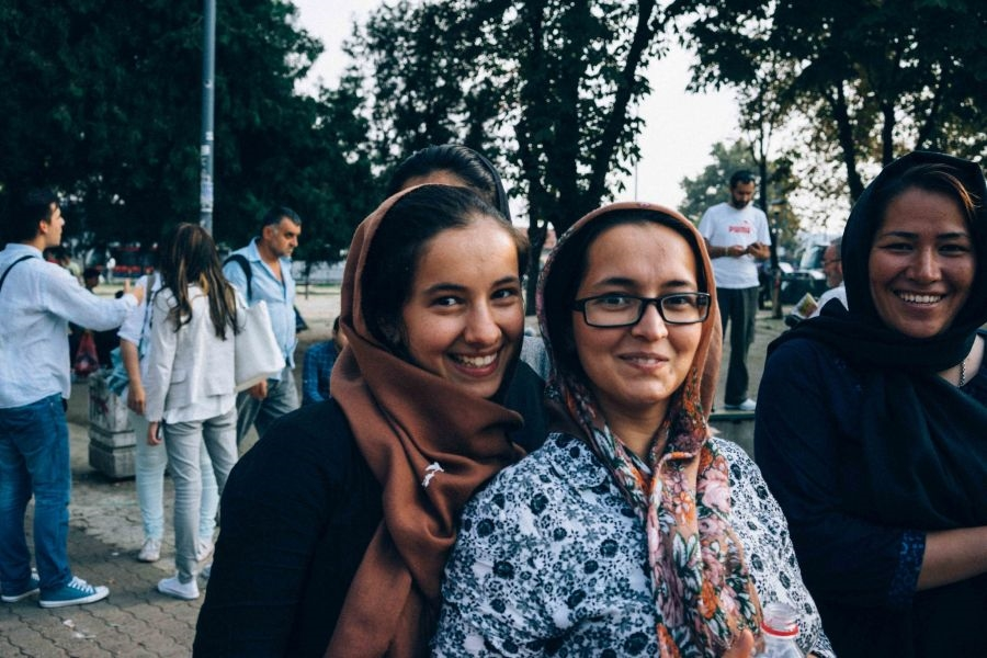 Muslimische Frauen in Belgrad (Foto:  Amy Rebecca / Catholic Relief Services)
