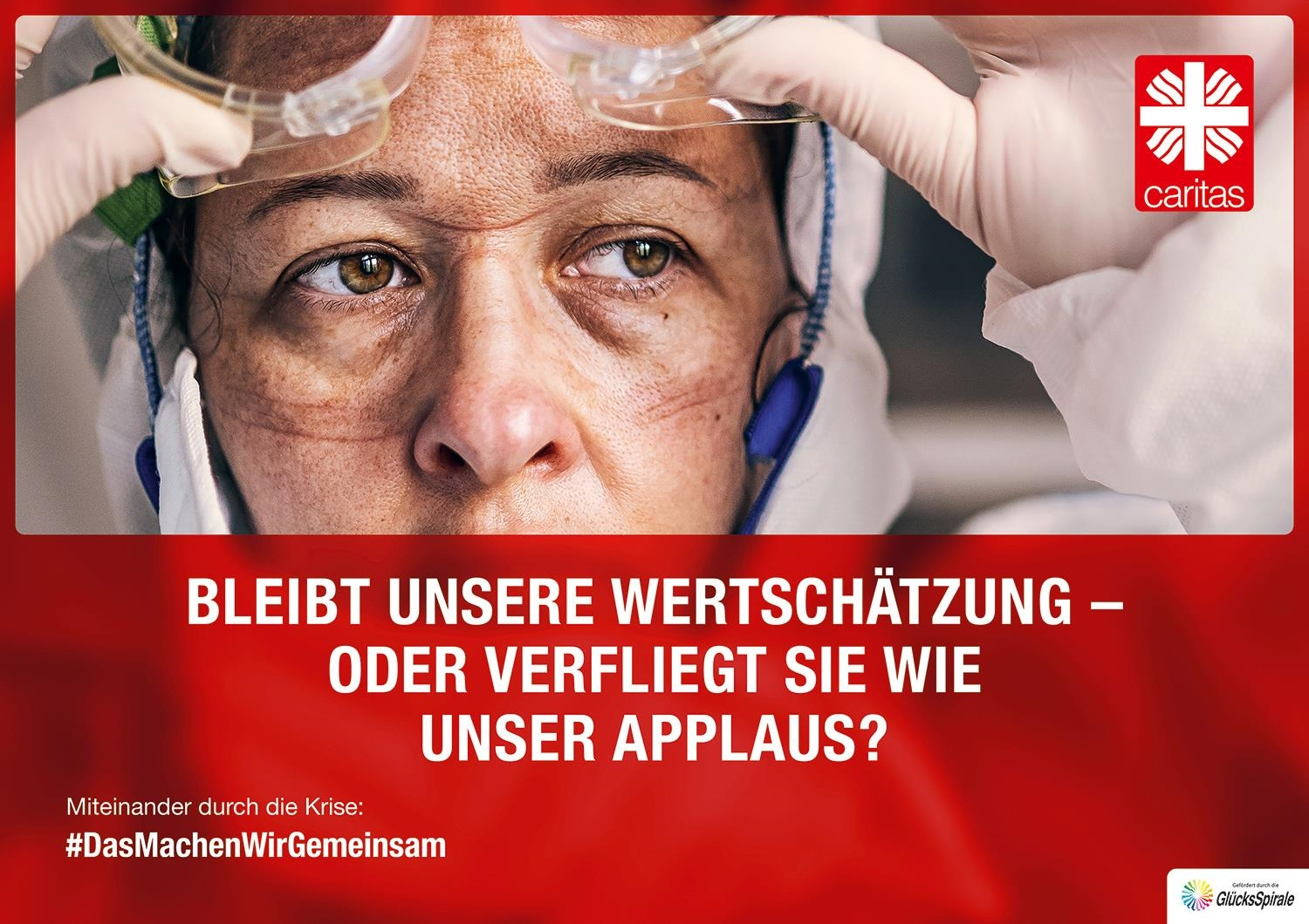 Plakatmotiv Applaus QF (Deutscher Caritasverband e. V.)