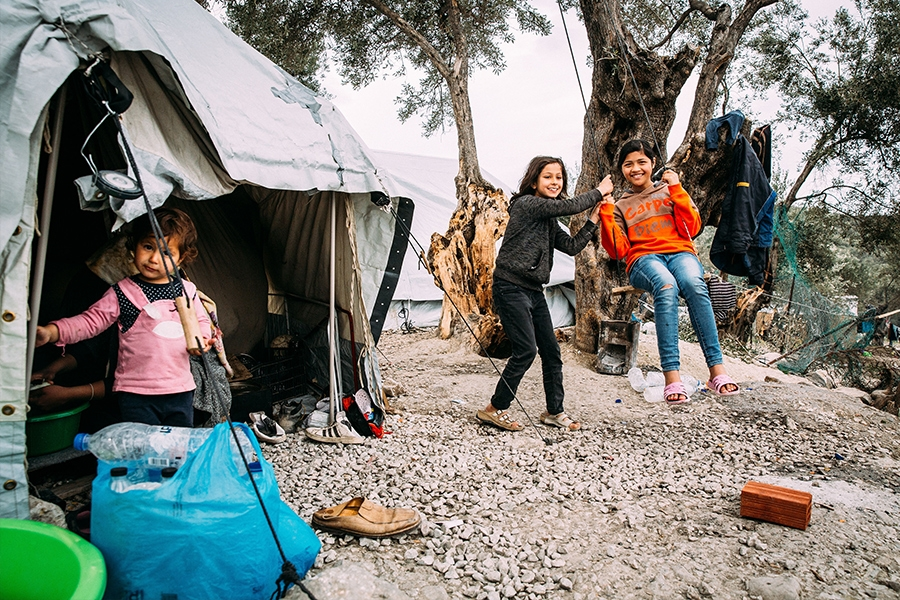 Kinder in Moria (Foto: Alea Horst/ Caritas international)