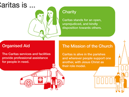 Info graphic (english version): What is Caritas? / DCV / infografiker.com