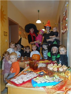 Halloweenparty in der Kinderkrippe Zwergenburg